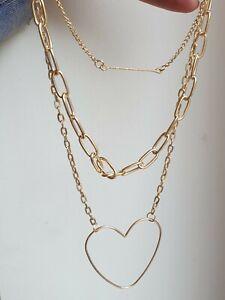 Multi Layer Triple Chain Chunky Choker Collar Necklace  Boho Ethnic Summer