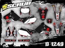 SCRUB Suzuki graphics decals kit DRz 400 1999-2017 stickers enduro '99-'17 SM