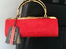 Balmain X for H&M sac à main en daim rouge / замша сумка