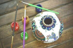 Hand painted Vase, Handmade Terracotta/ Clay Vase, Showpiece, Home/Office Decor
