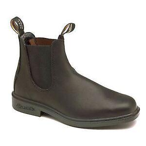 Blundstone 063 Stout  Black Premium Leather Classic Boots Australia