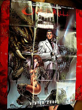 "WITCHBLADE ALIENS DARKNESS PREDATOR PROMO POSTER 24""x36"" NEW 2000 OVERKILL"
