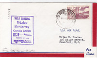 mexico corpus christi  1966  air mail stamps  flight cover ref r15419