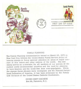 1455 Family Planning Cover Craft Cachets, CCC, FDC