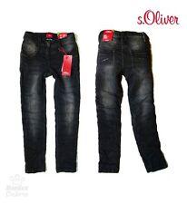"S.OLIVER Jogg Jeans / Hose SLIM Gr. 134 ""SURI"" in black denim NEU"