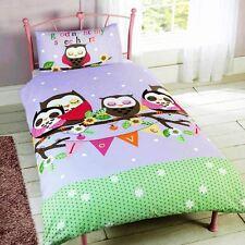 GOODNIGHT SWEETHEART OWLS SINGLE DUVET COVER SET NEW BEDDING