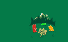 A4 drôle Poster – Veuillez Ne pas Manger les ours (Cartoon Gummy Bears photo art)