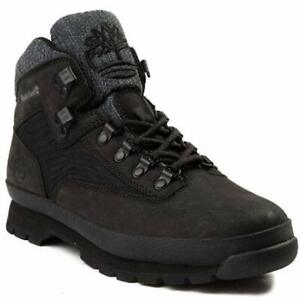 Men's Timberland Euro Hiker Rip Leather Boots, TB0A1UB2 001 Multiple Sizes Black