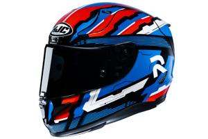 NEU HJC Helm RPHA 11 Stobon schwarz blau rot  + dunkles Visier Gr. L = 58/59