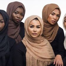 New Crimp Crinkle Frayed Edges Maxi Scarf Hijab Crimped Scarves Habiba Da Silva