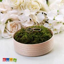 Cuscino Porta Fedi Sposi ECO GARDEN Legno - Matrimonio Wedding Country Portafedi