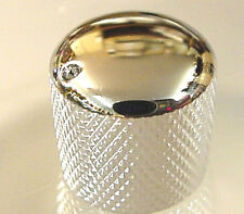 CHROME PUSH-ON ELECTRIC GUITAR KNOB WITH DOT MARKER
