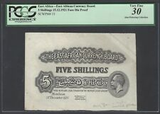 East Africa 5 Shilling 15-12-1921 P13p Face Die Proof Very Fine