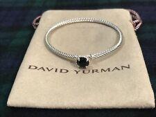 DAVID YURMAN Chatelaine Bracelet Sterling Silver with Black Onyx 3mm $325 NWOT