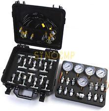 Hydraulic Pressure Gauge Test Kit With 5 Gauges, 5 Test Hoses, 27 Couplings Tool