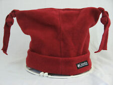 Columbia Beanie Hat Adult Size L/XL Fun Tassled Fleece Cap in Christmas Red