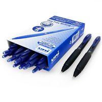 Uni-Ball Signo 307 – Fine Retractable Gel Ink Rollerball Pen - Blue Ink - 12 + 2