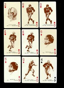 1963 STANCRAFT PLAYING CARDS FOOTBALL LOT OF 15 MINT WITH STARS *268818