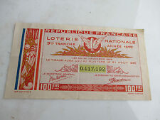 vp1 billet de loterie nationale 100 francs 9e tranche 1935