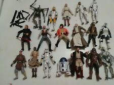 Star Wars Action Figures Lot of 18 with Weapons