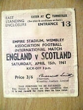 Tickets- 1961 International Match ENGLAND v SCOTLAND, 15 April 1961- Wembley