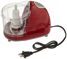 Brentwood Mini Food Chopper, Red, Small Appliances, Processor Cooking Cutting.