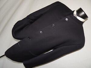 Pierre Cardin men's Blue Nehru collar jacket coat size 42 S