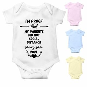 Social Distancing Funny Baby Grow   My Parents did not social distance