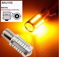 2X Amber BAU15S PY21W 1156 33SMD LED Car Turn Signal Backup Reverse Auto Bulbs