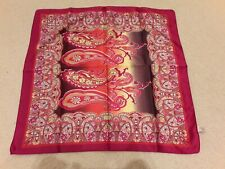 Magenta Pink 100% Polyester Square Scarf