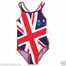 ENGLAND GB GIRLS KIDS CHILDREN SWIMSUIT SWIMMING COSTUME SWIMWEAR BEACH SWIMMERS