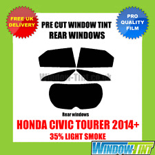 HONDA CIVIC TOURER 2014+ 35% LIGHT REAR PRE CUT WINDOW TINT