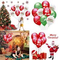 5/10pcs Christmas Santa Claus Elk Balloons Latex Balloons Xmas Party Home Decor