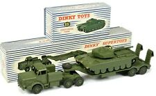 DINKY TOYS 650/651 * MIGHTY ANTAR TRANSPORTER & CENTURION TANK * ORIGINAL SET