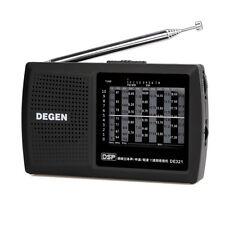 New Pocket DEGEN DE321FM Stereo Radio FM MW SW Radio DSP World Band Receiver