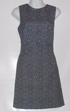 H&M Ladies Woven Textured Sleeveless Fitted Dress Black & Ivory Twelve (12) NWT