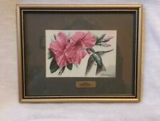 Beautiful Cash's Woven Silk Pictures Ruby Hummingbird Miniature Collector Series