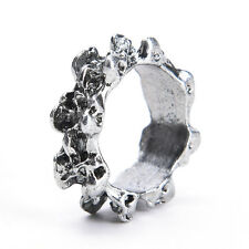 1x Men's Gothic Skull Charm Finger Ring Stainless Steel Punk Biker Jewelry xkGVC