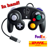 Nintendo Game Cube Super Smash Bros Controller Smash Brothers GC Black IN HAND