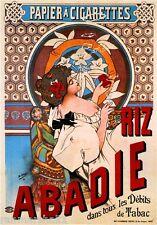 Riz Abadie Vintage French Nouveau France Poster Print Art Advertisement