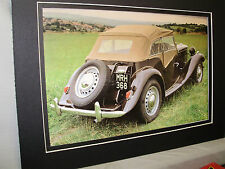1952 MG TD Midget  60th Anniversary Exhibit Color Poster Automotive Museum
