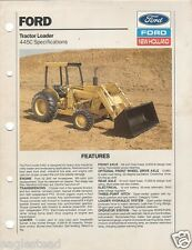 Equipment Brochure - Ford - 445C - Tractor Loader Specs - 1989 (E1143)