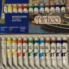 12PC ARTISTS WATER COLOURS PAINTS SET HOBBIES CRAFTS MAKING PICTURES EQUIPMENT