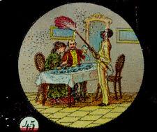 SET 12 MAGIC LANTERN GLASS SLIDES IN BOX USA LIFE IN UNITED STATES C 1880-1910