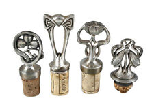 Choice of 4 1900 German Art Nouveau Jugendstil Silverplated Bottle Stoppers