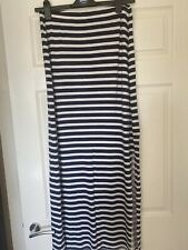 George Maternity Striped Maxi Skirt Over Bump Size 14 Navy/white