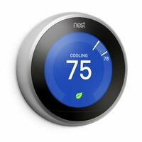 NEW Nest 3rd Generation Learning Stainless Steel Programmable Thermostat NO BASE