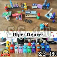10pcs/set Among Us Game Model Building Part Toys Mini Figure Lot Action Figures