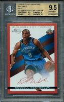 2008-09 topps signature facsimile red #tsrw RUSSELL WESTBROOK rookie BGS 9.5