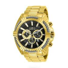 Invicta Bolt Speedway 27192 Men's Cable Bezel Gold-Tone Chronograph Watch